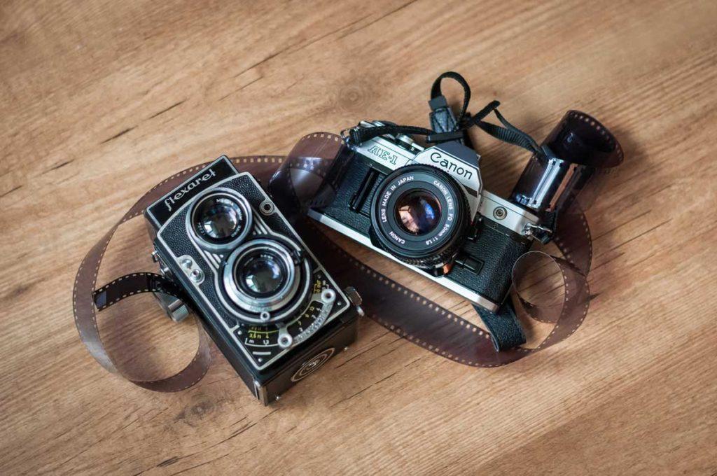 fotografování svateb na Kinofilm - fotoaparáty